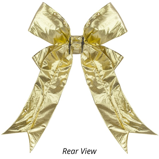Gold Metallic 3D Lame Christmas Bow