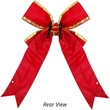 "60"" Red Nylon Bow w/Gold Trim"