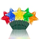 "35 Multicolor Star LED Christmas Lights, 6"" Spacing"