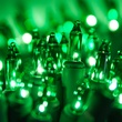 "35 Green Christmas Tree Mini Lights, 6"" Spacing, Green Wire"