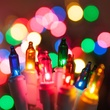 "50 Multi Color Mini Christmas Lights, 4"" Spacing, Premium, White Wire"