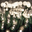 "50 Clear Christmas Tree Mini Lights, 4"" Spacing, Green Wire"