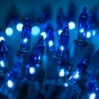 "50 Sky Blue Mini Christmas Lights, 6"" Spacing, Premium, Sky Blue Wire"