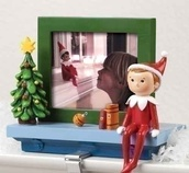 Elf on the Shelf Stocking Holder with Photo Frame
