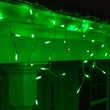 70 M5 Green LED Icicle Lights