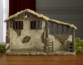 "17"" High Deluxe Lighted Nativity Stable"