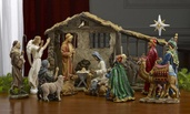 "10"" Real Life Nativity Creche, 16 piece set"