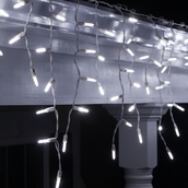 70 M5 Cool White Twinkle LED Icicle Lights