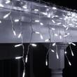 70 LED Icicle Lights, Cool White M5 Bulbs