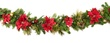 Crimson Harvest Battery Operated LED Christmas Garland, Warm White Lights