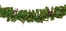 Savannah Mixed Pine Battery Operated LED Christmas Garland, Warm White Lights