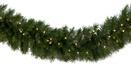 Dunhill Fir Prelit LED Christmas Garland, Warm White Lights