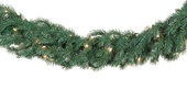 Balsam Fir Prelit Christmas Garland, Clear Lights