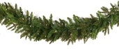 Fraser Fir Prelit Christmas Garland, Clear Lights
