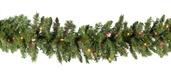 Brighton Fir Prelit Christmas Garland, Multicolor Lights