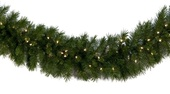 Dunhill Fir Prelit Christmas Garland, Clear Lights