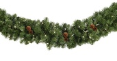 Winchester Fir Prelit Christmas Garland, Clear Lights