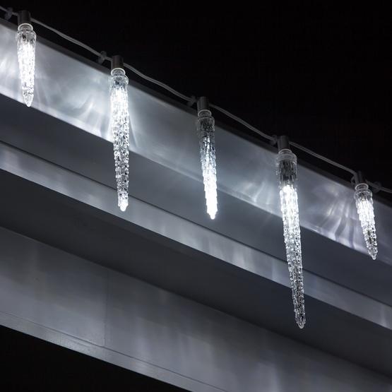 C7 Falling Icicle Cool White LED Christmas Light Bulbs