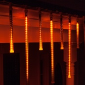 T8 Amber Grand Cascade LED Light Tubes, E17 Base