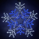 "26"" LED Snowflake with Blue Center"