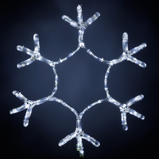 24'' Snowflake Motif, Cool White LED Lights