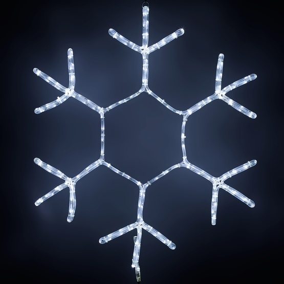 36'' Snowflake Motif, Cool White LED Lights