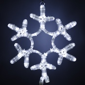 12'' Snowflake Motif, Cool White LED Lights