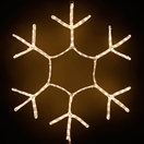 36'' Snowflake Motif, Warm White LED Lights