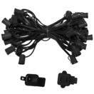 "50' C9 Commercial Light Stringer, SPT1 Black Wire, 18"" Spacing"
