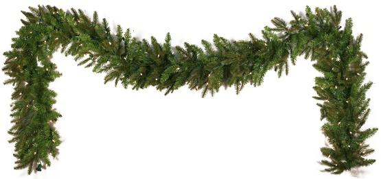 Lighted Christmas Garland Fraser Fir Prelit Led