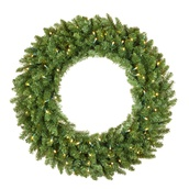 Douglas Fir Prelit LED Holiday Christmas Wreath, Warm White Lights
