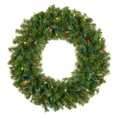 Douglas Fir Prelit LED Artificial Christmas Wreath, Multicolor Lights