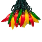 Chili Pepper Light Set, 35 Multicolor Lights