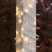 "6"" x 15' LED Column Wrap Lights - 150 Warm White Lamps - White Wire"