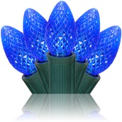 C7 Blue Commercial LED Christmas Lights
