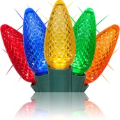 C9 Multicolor Twinkle Commercial LED Christmas Lights