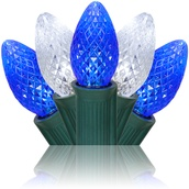 C7 Blue / Cool White Commercial LED Christmas Lights