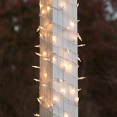 "6"" x 15' Column Wrap Lights - 150 Clear Lamps - White Wire"