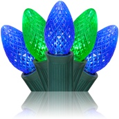 C7 Blue / Green Commercial LED Christmas Lights