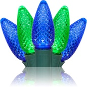 C9 Blue / Green Commercial LED Christmas Lights