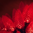 "25 C9 Red LED Christmas Lights, 8"" Spacing"