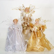 "14"" Ivory Angel Tree Topper"