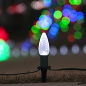 C9 Cool White Christmas LED Pathway Lights