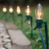 C9 Clear Christmas Pathway Lights