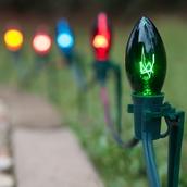 C9 Multicolor Christmas Pathway Lights