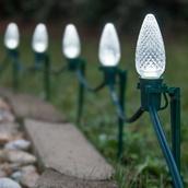 C9 Cool White Christmas LED Pathway Lights