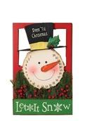 Christmas Countdown Metal Snowman Advent Calendar