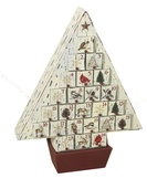 Rustic Country Christmas Tree Advent Calendar