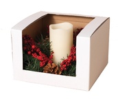 "6"" 12"" Pointsettia LED Candle Set"