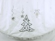 "56"" White Velvet Sequin Beaded Ornament Tree Skirt"